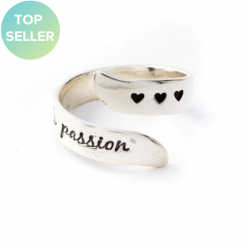 Live With Passion Silver Adjustable Ring