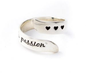 """Live with Passion"" Adjustable Ring"