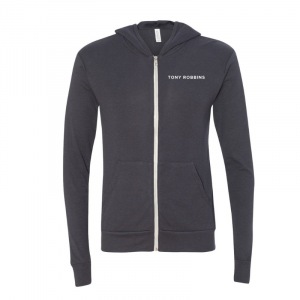 Live With Passion Zip Hoodie Front