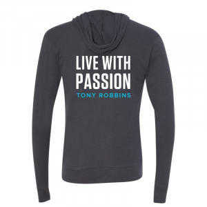 Live With Passion Zip Hoodie Back