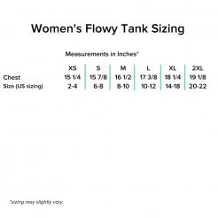 Women's Tank Sizing Chart