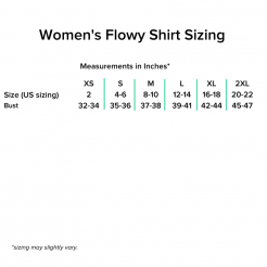Women's Flowy Shirt Sizing