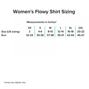 Women's Flowy Shirt Sizing