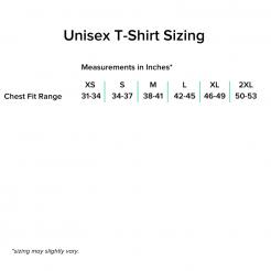 Unisex T-Shirt Sizing