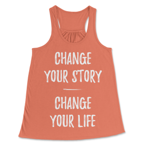 Women's Flowy Change Your Story Tank