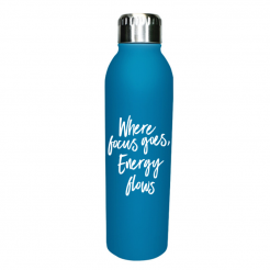 Where Focus Goes Water Bottle