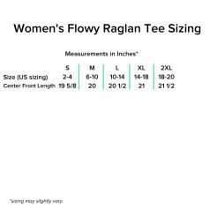 Flowy Raglan Tee Sizing