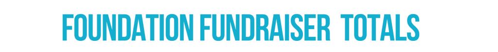 Foundation Fundraiser Totals